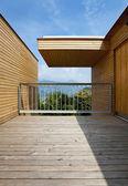 Ecologische huis, Terras — Stockfoto