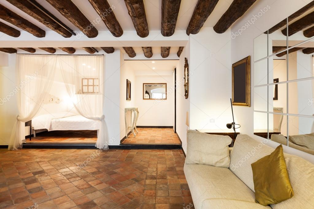 interior terracotta floor stock photo zveiger 43435225. Black Bedroom Furniture Sets. Home Design Ideas