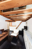 Beautiful loft, living room — Stock Photo