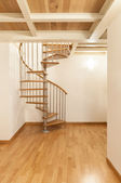 Apartment, spiral staircases — Stock Photo
