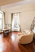 Apartment, view from the living room — Stock Photo