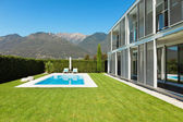 Modern villa with pool — Stock Photo