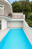 Building with pool — Stock Photo