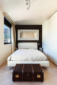 Comfortable double bed — Stock Photo