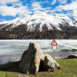Frozen alpine lake — Stock Photo #49848685