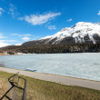 Mountain landscape, lake frozen — Stock Photo #49849175
