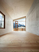 Mountain home, room view — Foto Stock