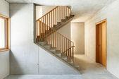 Mountain home, staircase — Stockfoto