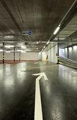 New underground parking — Stock Photo