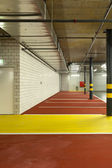 Underground parking, passage — Stock Photo