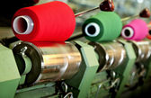 Industrial textile factory — Stock Photo