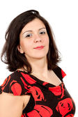 Woman with fancy blouse — Stock Photo