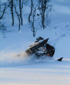 Snowmobile Action — Stockfoto