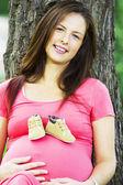 Pregnant woman — 图库照片
