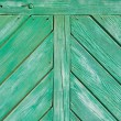 Royalty-Free Stock Photo: Green wooden wall