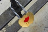Padlock in heart shape — Stock Photo