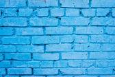 Blue brick wall — Stock Photo