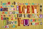 我爱你。爱的消息. — 图库照片