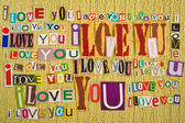 Ich liebe dich. liebe nachricht. — Stockfoto