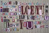 Ik hou van jou. liefde bericht. — Stockfoto