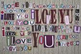 Miluju tě. láska zpráva. — Stock fotografie