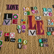 LOVE collage — Stock Photo #40477671