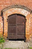 Old rusty iron gate — Stock Photo