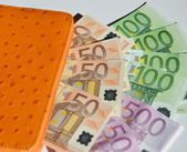 Wallet with Money — Stockfoto
