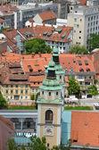The Cathedral (Church of St. Nicholas) in Liublana,Slovenia — Stock Photo