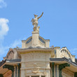 Statue on top of Galerija Emporium — Stock Photo