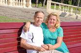 Happy Senior Couple Smiling — Stock Photo