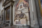 Santa Croce.Tomb of Michelangelo Buonarroti. Florence — Stock Photo