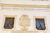 Facade of building of Library in Italy — Stock Photo