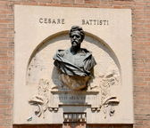Cesari Battisti statue — Stock Photo