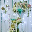 Stock Photo: Wedding decorations with flowers, beads