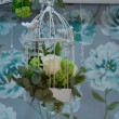 Stock Photo: White cage decorations