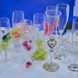 Stock Photo: Wedding glasses