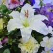 White lilies Bouquet — Stock Photo