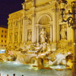 Fountain di Trevi at night, Rome, Italy — Stock Photo #34246885