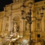 Fountain di Trevi at night, Rome, Italy — Stock Photo #34246903