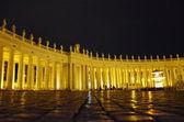 Vatican. Saint Peter's Square at night — Stock Photo