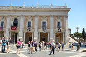 Capitoline Museum building, Piazza del Campidoglio, Rome, Italy — Stock Photo