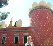 Eggs on Salvador Dali museum, Figueras, Spain — Stock Photo