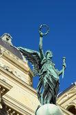 Statue of  greek goddess  in Vienna — Stock Photo