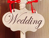 Wedding sign — Stock Photo
