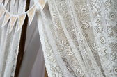 Vintage lace on the wooden background — Foto Stock
