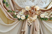Wedding beige decor — Stock Photo