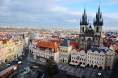 Panoramic aerial  view of Prague from the Prague Castle, Czech Republic — Стоковое фото