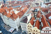 Panoramic aerial  view of Prague from the Prague Castle, Czech Republic — Zdjęcie stockowe