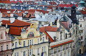 Aerial view over Old Town Square, Prague, Czech Republic — Stock Photo